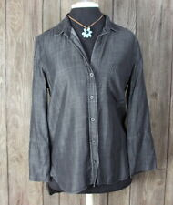 Cloth & Stone Blouse M size Gray Tencel Top Career Casual Shirt Free US Shipping