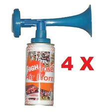 4 Pcs of High Tone Aerosol Air Horns - Sports, Parties, Safety, Loud Noise Maker