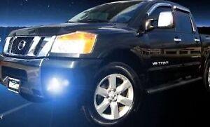 White LED Halo Fog Lamps Light Kit foglamps foglights for 2004-2010 Nissan Titan