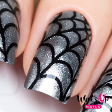 Spider Web Stencils for Nails, Halloween Nail Stickers, Nail Art, Nail Vinyls