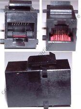 Mountable KEYSTONE COUPLER/Joiner Female~F RJ45 cord Jack Ethernet Network{BLACK