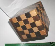 Pentathalon Cube 5x5x5 wood Brain teaser Puzzle large