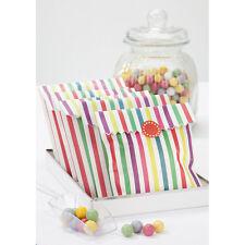 10 Multi Coloured Striped Treat Bags