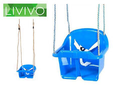 BLUE SAFETY SWING CHILDRENS CHILDS TODDLER SEAT ADJUSTABLE OUTDOOR GARDEN ROPE