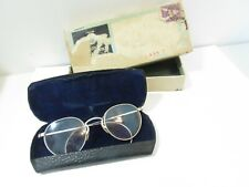 VINTAGE SUNGLASSES 1945 IN CASE SKIPPY HIBO ETCHED ROUNDED ARMS