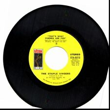 STAPLE SINGERS THAT'S WHAT FRIENDS ARE FOR/CITY IN THE SKY 45RPM VINYL