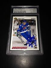 Adam Foote Signed 1991-92 Upper Deck Rookie Card Nordiques PSA Slabbed #83704370