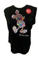Walt Disney Wold Parks Minnie Mouse Rainbow Sequin Sleeveless Womens M NWT
