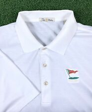 Peter Millar Mens White Los Angeles Country Club Golf Cotton Polo Shirt Large