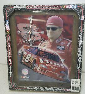 DALE EARNHARDT JR. REAL WOOD PHOTO PLAQUE CLOCK 1999 NASCAR New SEALED #261726