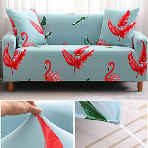 1 Seat Sofa Cover Spandex Stretch Animal Printed Couch Slipcover Protector