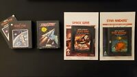 Lot Of 4 Atari 2600 Games star fox tac-scan space war star  with manuals tested
