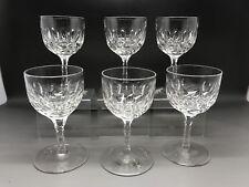 6 Piccole Vintage Occhiali-cut glass-A Faccette STELO-WEBB? (NO Makers Mark)