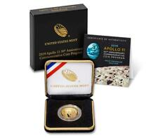 2019-W Apollo 11 50th Anniversary PROOF $5 Gold Coin - West Point Mint -
