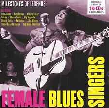 FEMALE BLUES SINGERS - ETTA JAMES, RUTH BROWN, ODETTA, MA RAINEY,,,  10 CD NEU