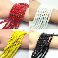 Wholesale Rondelle Faceted Crystal Glass Loose Spacer Beads 4/6/8/10mm Making