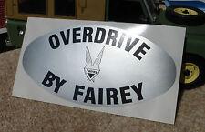 Heck Overdrive von Fairey Dose Aufkleber Abzeichen Land Range Rover Serie 2 2a