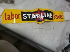 VINTAGE STARLINE BARN EQUIPMENT Labor Saver STICKER FARM Feed seed SIGN decal