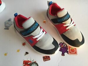 DC Heathrow Prestige EVShoes Youth's Sz 1 Gray/Black/Red