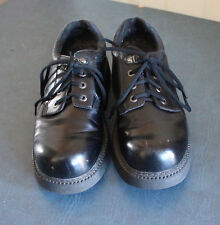 Skechers Mens size 12 Black Leather Dress oxfords shoes sn7445 , F-28