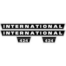 NEW 424 INTERNATIONAL HARVESTER FARMALL TRACTOR HOOD DECAL KIT QUALITY VINYL 🎯