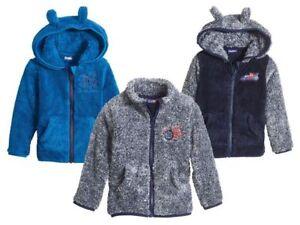 Kids' Boys' Fleece Jacket Zip Hoodies Pockets Cute Ears Soft 12m 2 3 4 5 6 Years