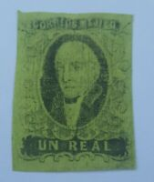 antique mexico stamp  1R 1861 - Excellent Stamp