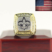 2009 New Orleans Saints Championship Ring #BREES Super Bowl champions Size 8-14