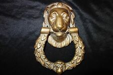 LION ANIMAL HEAD DOOR KNOCK/KNOCKER - HEAVY SOLID 2.5KG