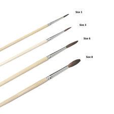Culpitt 4 Set Pony Hair Dusting Paint Brush Paintbrushes Sugarcraft Decorating