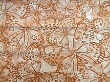 Melody grand papillons café tissu FQ 50x56cm 100% coton F 5620 P