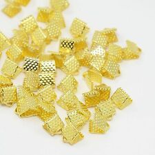 lot 50 attaches ruban pince fermoir griffe embout jaune or bijoux  6x8 mm NEUF