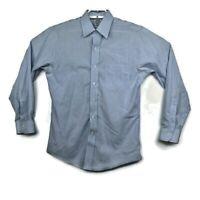 Brooks Brothers Mens Blue Long Sleeve Button Up Dress Shirt Slim Fit Sz 15-33