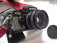 YASHICA FX-D Quartz Kamera Analog Camera Spiegereflex Tasche Blitz Carena CA-21