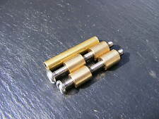 1 pair BRASS AND STAINLESS LOVELESS BOLTS - KNIFE MAKING