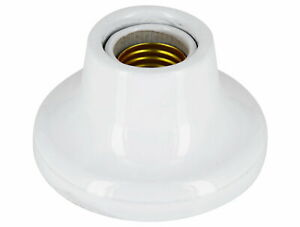 E27 Applique Plafonnier Douille de Lampe Céramique Porcelaine Verré Blanc