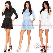 Crew Neck Party Short/Mini 3/4 Sleeve Dresses for Women