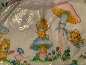 Vintage 1960's Pink & Blue Baby Receiving Blankets Nielsen NOS Pkg of 2 USA