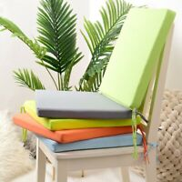 Chair Cushion Seat Pad Indoor Outdoor Tie On Garden Patio Removable Cover K