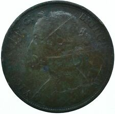 1890 ONE PENNY GB UK QUEEN VICTORIA BEAUTIFUL COLLECTIBLE COIN      #WT31306