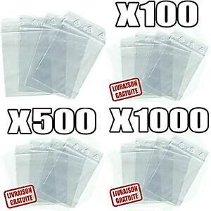 Sachet, pochette ou sac ZIP en plastique Transparent PLUSIEURS FORMATS