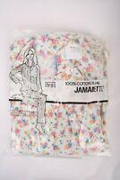 Vintage 60s Womens Sears Pajamas Jamarette Floral sz 38 Cotton Flannel New
