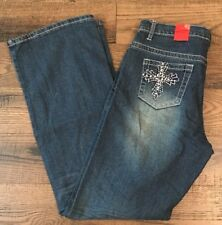 Missy Firefly Jeans Womens Size 10 Boot Cut Denim Embelished Pockets NWT
