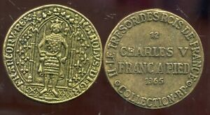 CHARLES V   franc a pied  1365    COLLECTION BP ( bis )