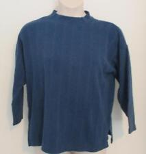 Teal Blue Crewneck Sweater by One Step Up Regular Size Medium  Cotton Blend