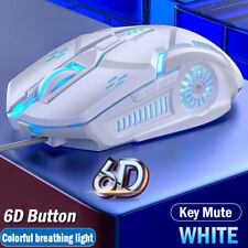 Wired Gaming Mouse 7 Button LED Breathing Fire Button 3200 DPI For Laptop PC