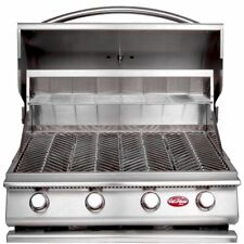 Cal Flame Built-in Grills Propane Gas 4-Burner Heat Thermometer Stainless Steel