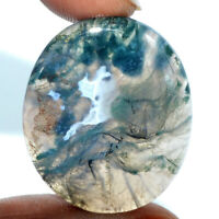 Cts. 35.50 Natural Designer Oval Cabochon Moss Agate Loose Gemstone