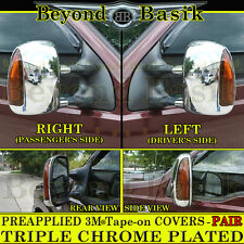 1999-2007 FORD F250 F350 F450 F550 TRIPLE Chrome Mirror COVERS Tow w/Signal hole