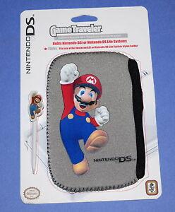 Nintendo DS/DSi neoprene pouch & stylus - BRAND NEW Super Mario GREY